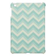 Aqua Blue Chevron Case For The iPad Mini