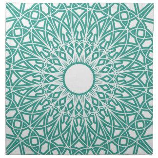 Aqua Blue Crocheted Lace Fabric Napkins