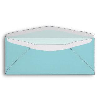 Aqua Blue Custom Envelope with Pre-Printed Address