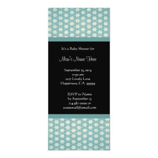 Aqua Blue Damask Baby Shower Invitations