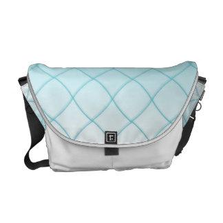 Aqua Blue Diamond Pattern Messenger Bag