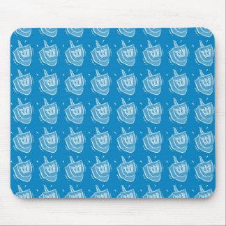Aqua Blue Dreidels Mouse Pad
