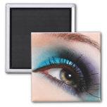 Aqua blue eyeshadow magnet