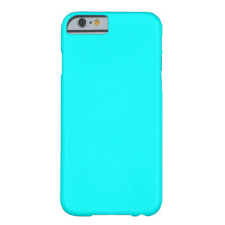 Aqua Blue Fashion Solid Color Barely There iPhone 6 Case
