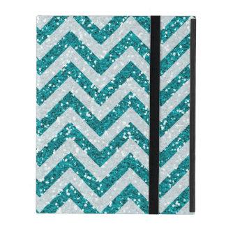 Aqua blue faux glitter iPad 2/3/4 case iPad Folio Case