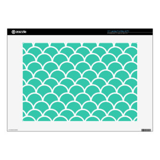 Aqua Blue Fish scale pattern Laptop Skins