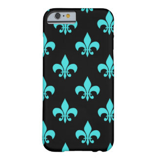 aqua blue fleur de lis pattern barely there iPhone 6 case