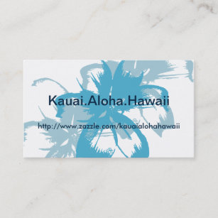 Blue hawaii business cards zazzle aqua blue floral business card reheart Image collections