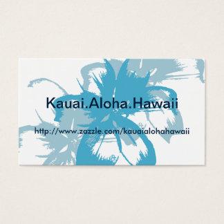 Aqua Blue Floral Business Card