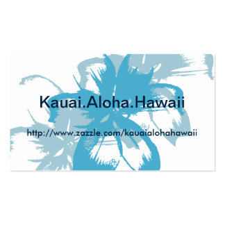 Aqua Blue Floral Business Card Template