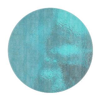 Aqua Blue Glass Cutting Board