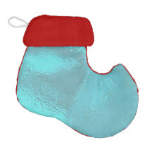 Aqua Blue Glass Elf Christmas Stocking