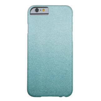 Aqua Blue Glitter Sand Visual Texture Ombre Light Barely There iPhone 6 Case