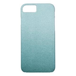Aqua Blue Glitter Sand Visual Texture Ombre Light iPhone 7 Case