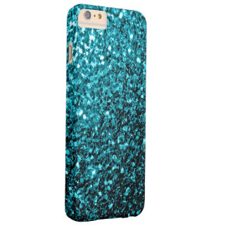 Aqua blue glitter sparkles iPhone 6 Plus case