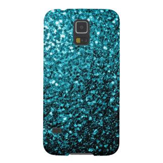 Aqua blue glitter sparkles Samsung Galaxy S5 Cases For Galaxy S5