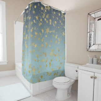yellow and blue shower curtain. Aqua Blue Gold Ombre Stars Shower Curtain Star Curtains  Zazzle