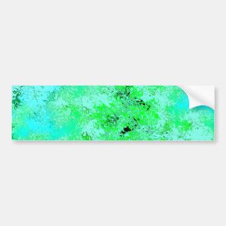 Aqua Blue & Green Abstract Bumper Sticker