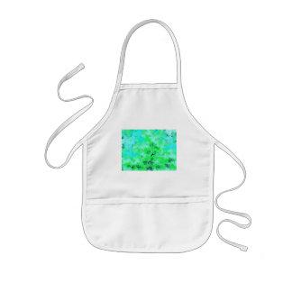 Aqua Blue & Green Abstract Kids' Apron