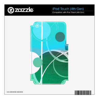 Aqua Blue Green Bubble Abstract iPod Touch 4G Skins