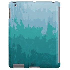 Aqua Blue Green Color Mix Ombre Grunge Design