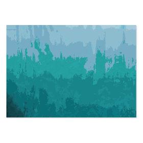 Aqua Blue Green Color Mix Ombre Grunge Design Business Cards