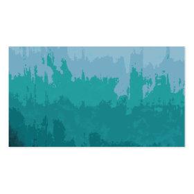 Aqua Blue Green Color Mix Ombre Grunge Design Business Card Template