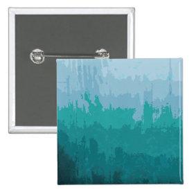 Aqua Blue Green Color Mix Ombre Grunge Design Pinback Buttons
