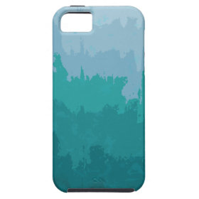 Aqua Blue Green Color Mix Ombre Grunge Design Case For iPhone 5/5S