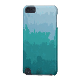 Aqua Blue Green Color Mix Ombre Grunge Design iPod Touch (5th Generation) Cover