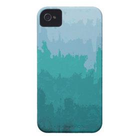 Aqua Blue Green Color Mix Ombre Grunge Design iPhone 4 Cases