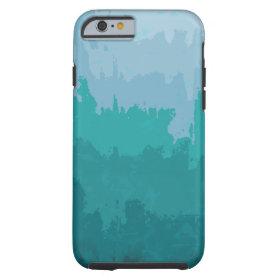 Aqua Blue Green Color Mix Ombre Grunge Design iPhone 6 Case