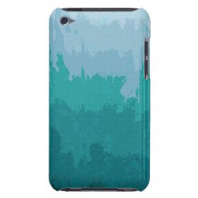 Aqua Blue Green Color Mix Ombre Grunge Design iPod Touch Case