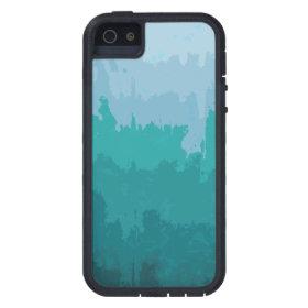 Aqua Blue Green Color Mix Ombre Grunge Design Case For iPhone 5
