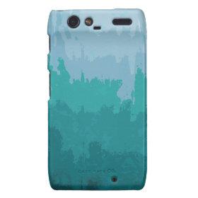 Aqua Blue Green Color Mix Ombre Grunge Design Motorola Droid RAZR Case