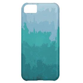 Aqua Blue Green Color Mix Ombre Grunge Design iPhone 5C Cover