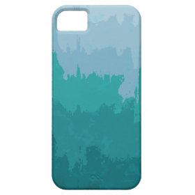 Aqua Blue Green Color Mix Ombre Grunge Design iPhone 5 Cover