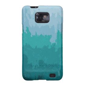 Aqua Blue Green Color Mix Ombre Grunge Design Samsung Galaxy SII Cover