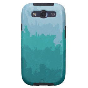Aqua Blue Green Color Mix Ombre Grunge Design Samsung Galaxy SIII Cover