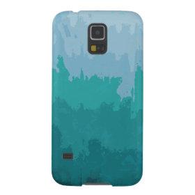 Aqua Blue Green Color Mix Ombre Grunge Design Galaxy S5 Cases