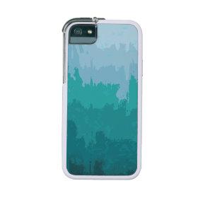 Aqua Blue Green Color Mix Ombre Grunge Design iPhone 5/5S Covers