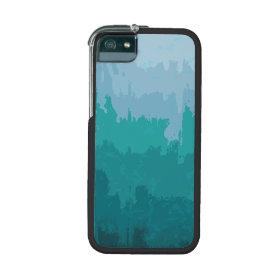 Aqua Blue Green Color Mix Ombre Grunge Design iPhone 5/5S Cases