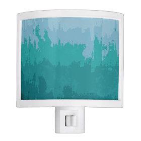 Aqua Blue Green Color Mix Ombre Grunge Design Night Lites