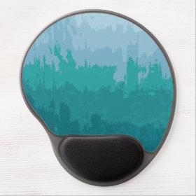 Aqua Blue Green Color Mix Ombre Grunge Design Gel Mouse Mat