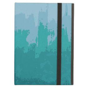 Aqua Blue Green Color Mix Ombre Grunge Design iPad Air Covers