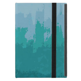 Aqua Blue Green Color Mix Ombre Grunge Design Cover For iPad Mini