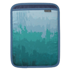 Aqua Blue Green Color Mix Ombre Grunge Design Sleeves For iPads