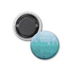 Aqua Blue Green Color Mix Ombre Grunge Design Refrigerator Magnet