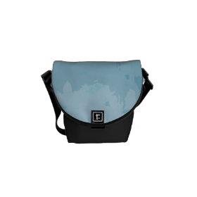 Aqua Blue Green Color Mix Ombre Grunge Design Courier Bags