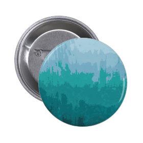 Aqua Blue Green Color Mix Ombre Grunge Design Pin